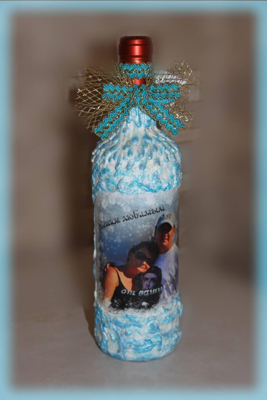 Оформление бутылок мужчине в подарок фото
